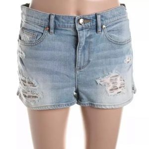 Juicy Couture Leopard Distressed Denim Shorts